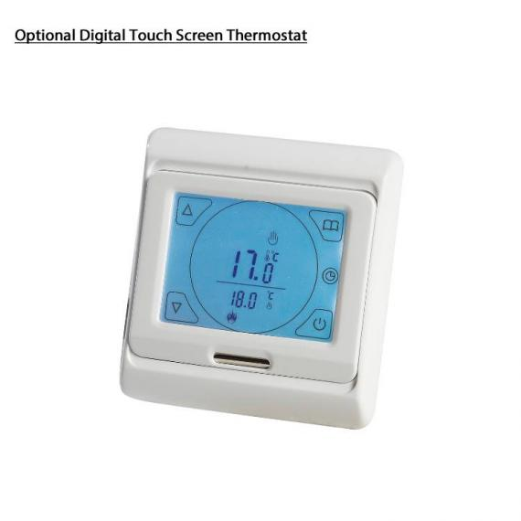 Phoenix Davina Chrome Designer Radiator - digital thermostat