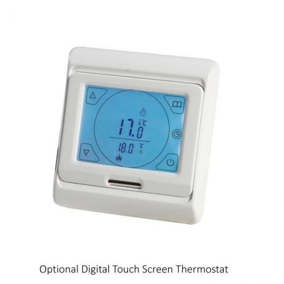Phoenix Ascot 500mm Chrome Electric Radiator - digital touch screen thermostat
