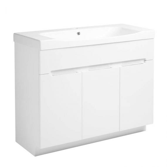 Roper Rhodes Diverge Gloss White 1000mm Freestanding Unit & Basin