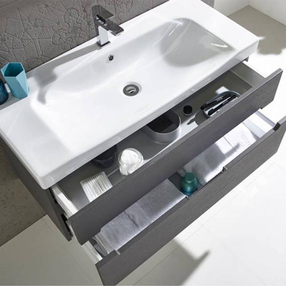 Roper Rhodes Diverge Charcoal Elm 1000mm Wall Mounted Unit & Basin - Image 2