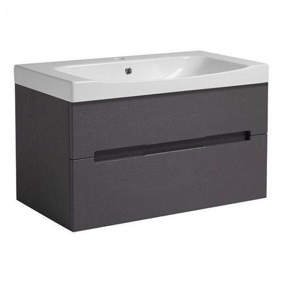 Roper Rhodes Diverge Charcoal Elm 800mm Wall Mounted Unit & Basin - Image 2