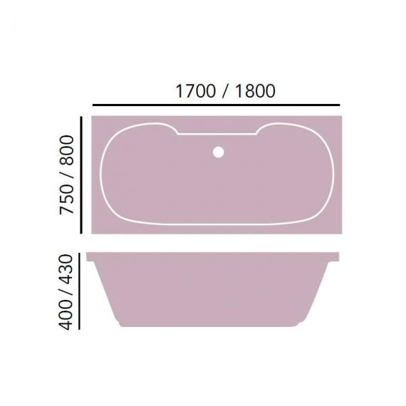Heritage Dorchester Double Ended Acrylic Bath - 1700 x 750mm Specification