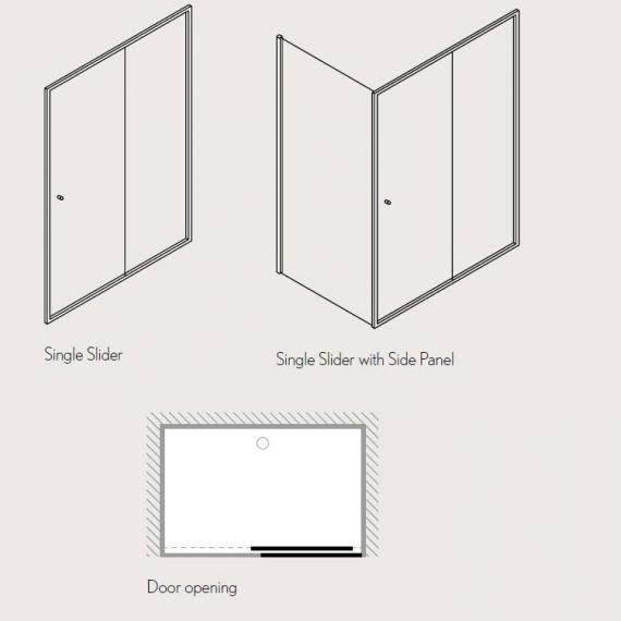 Simpsons Edge Single Sliding Shower Door Specification