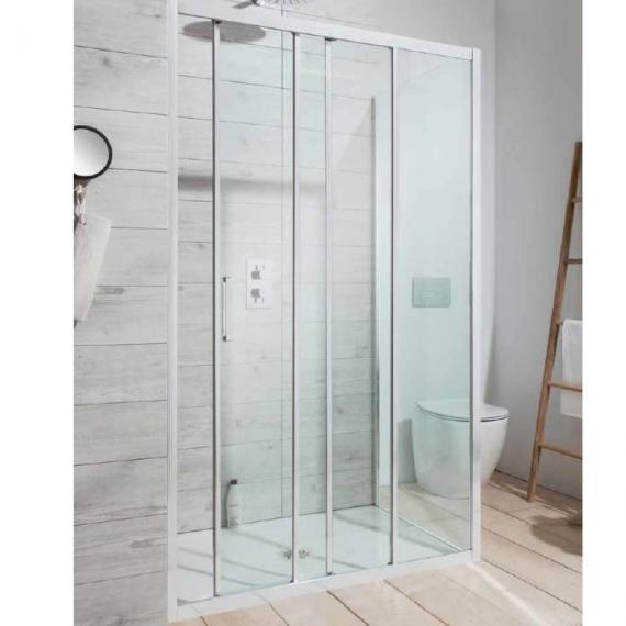 Simpsons Edge Triple Sliding Shower Door With Side Panel