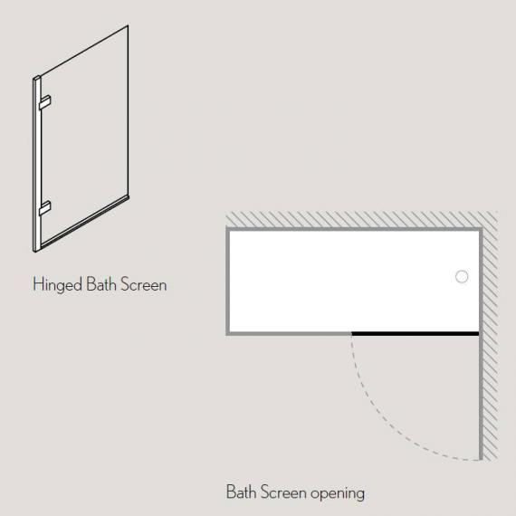 Simpsons Elite Hinged Bath Screen Specification