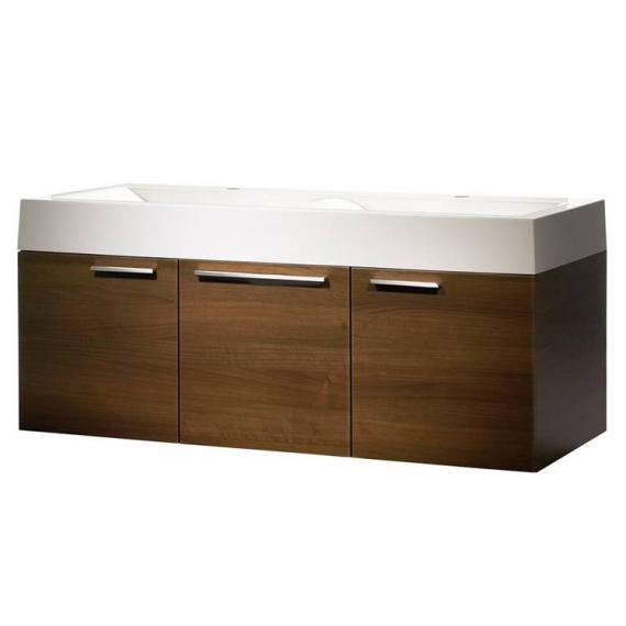 Roper Rhodes Envy Walnut 1200mm Double Wall Mounted Unit & Basin