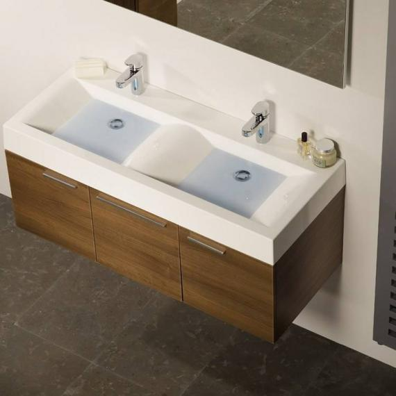 Roper Rhodes Envy Walnut 1200mm Double Wall Mounted Unit & Basin - Image 2