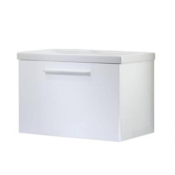 Roper Rhodes Envy Gloss White 700mm Wall Mounted Unit & Basin