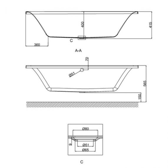 Britton Cleargreen Enviro 1800 x 800mm Double Ended Bath Specification