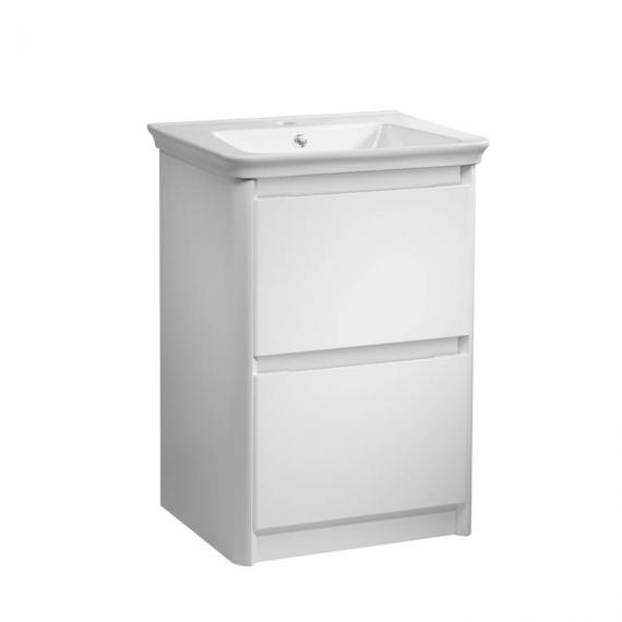 Tavistock Equate White Gloss 600mm Freestanding Unit & Basin