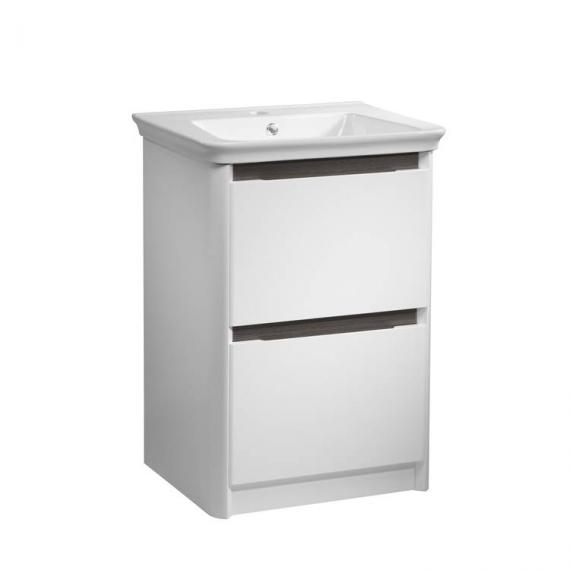 Tavistock Equate White & Grey Oak 700mm Freestanding Unit & Basin - Image 3