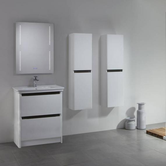Tavistock Equate White & Grey Oak 700mm Freestanding Unit & Basin