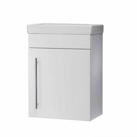 Roper Rhodes Esta Gloss White 460mm Wall Mounted Unit & Basin - Spec