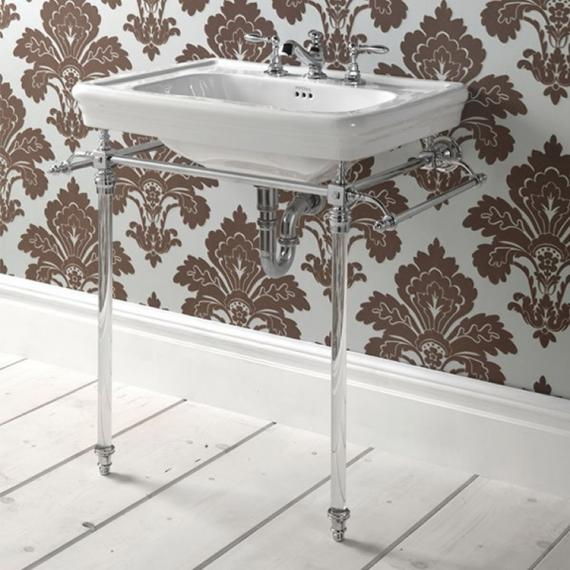 Imperial Etoile Hardwick Basin Stand with Glass Legs
