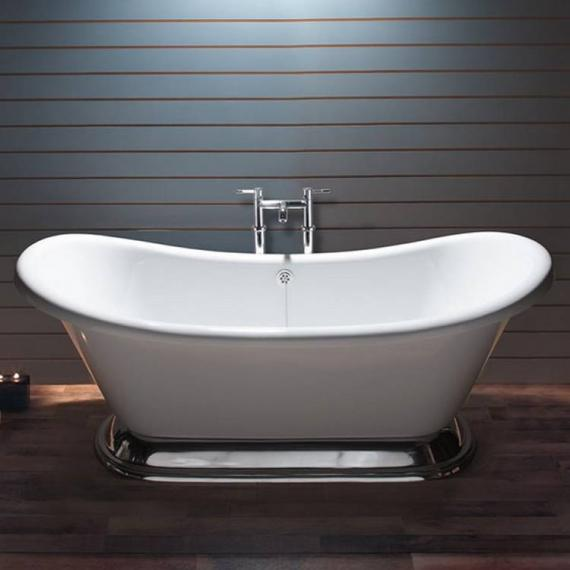BC Designs Excelsior Acrylic Freestanding Bath With Aluminium Plinth