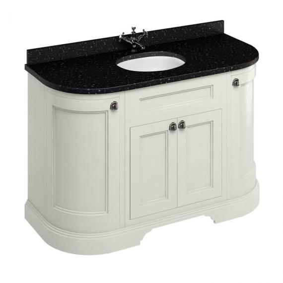 Burlington Sand 1340mm Freestanding Curved Vanity Unit With Worktop & Basin - Image 5