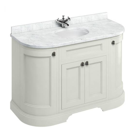 Burlington Sand 1340mm Freestanding Curved Vanity Unit With Worktop & Basin - Image 3