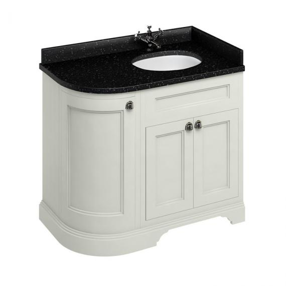 Burlington Sand 1000mm Curved Vanity Unit With Doors, Worktop & Basin - Right Hand - Image 3
