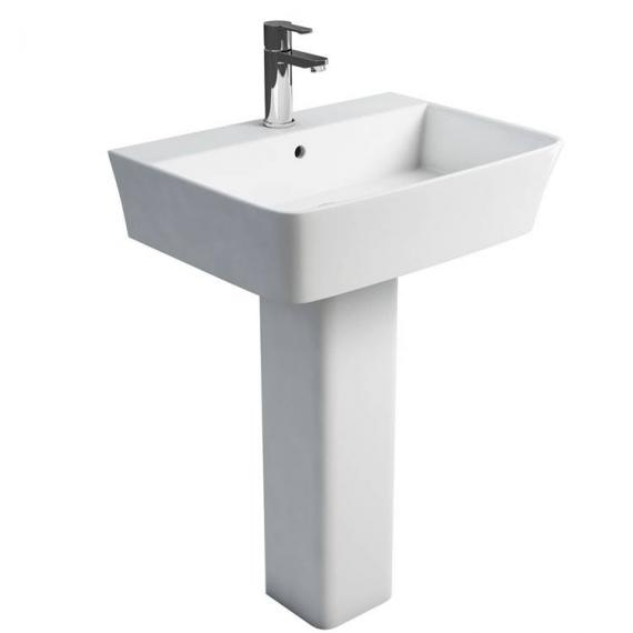 Britton Fine 600mm Basin & Square Fronted Pedestal