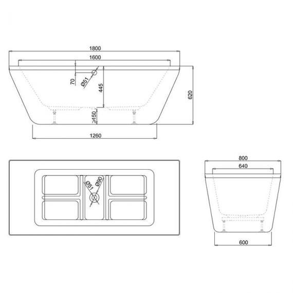 Cleargreen Freefortis Double Ended Freestanding Bath Specification