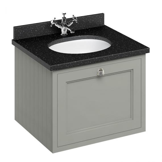 Burlington Olive 650mm Wall Hung Vanity Unit With Worktop & Basin - Image 3