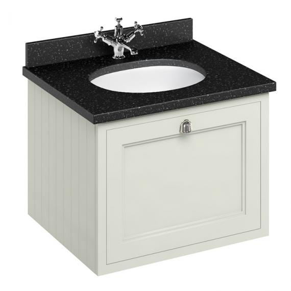 Burlington Sand 650mm Wall Hung Vanity Unit With Worktop & Basin - Image 3