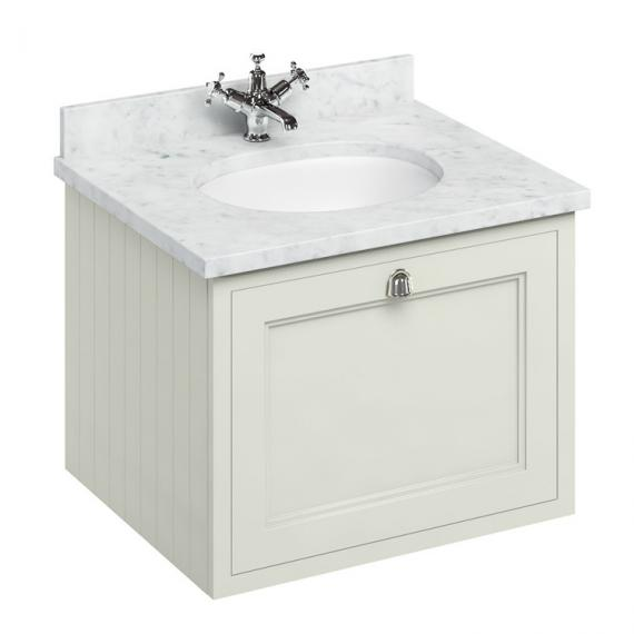 Burlington Sand 650mm Wall Hung Vanity Unit With Worktop & Basin - Image 5