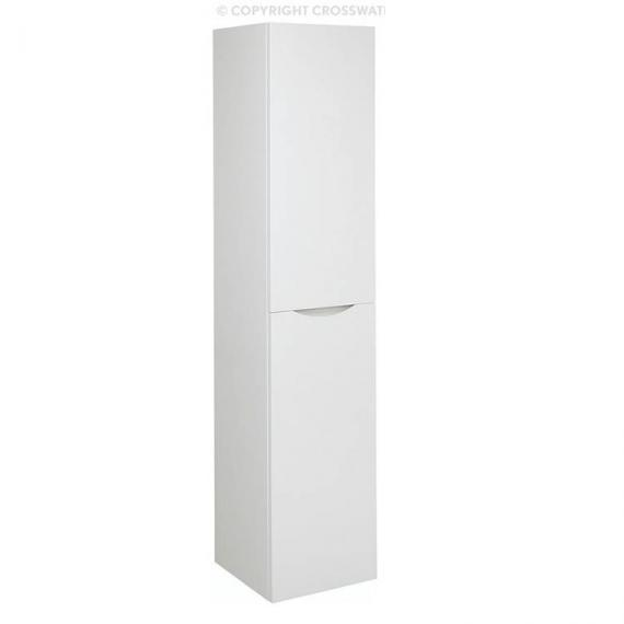 Bauhaus Glide II White Gloss Wall Hung Tower Storage Unit