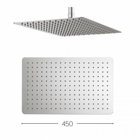 Crosswater Glide Rectangle 400mm Fixed Shower Head Specification