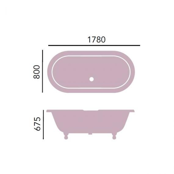 Heritage Grand Buckingham Freestanding Cast Iron Roll Top Bath Specification