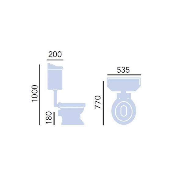 Heritage Granley Low Level Toilet Specification