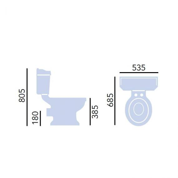 Heritage Granley Close Coupled Toilet Specification