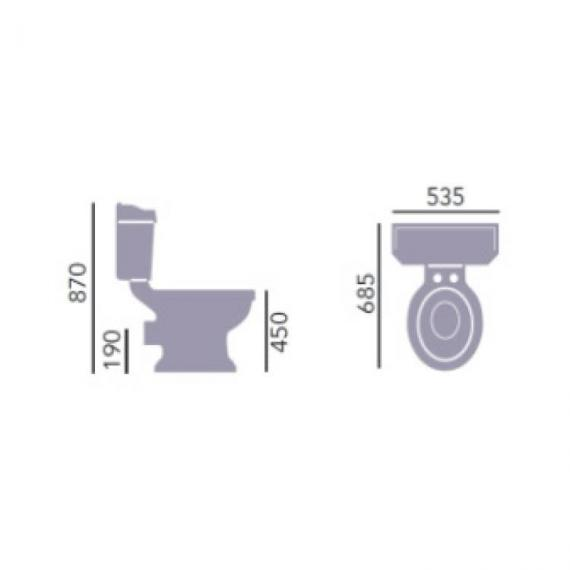 Heritage Granley Comfort Height Close Coupled WC & Cistern Specification