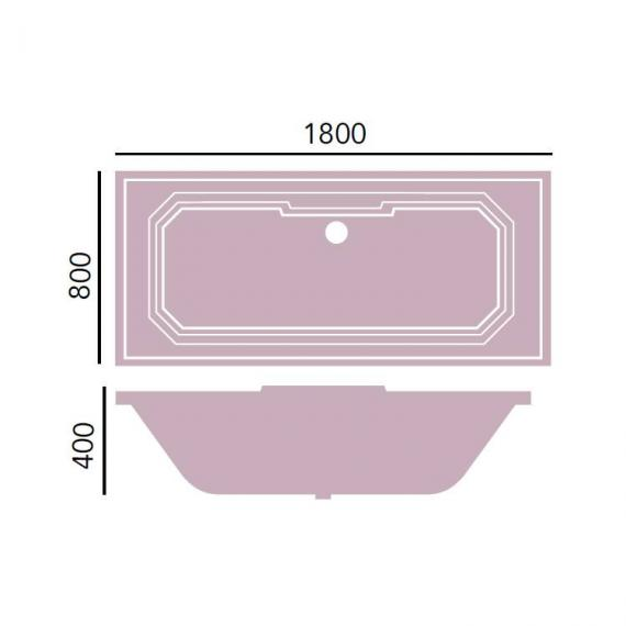 Heritage Granley 1800 x 800mm Double Ended Bath Specification