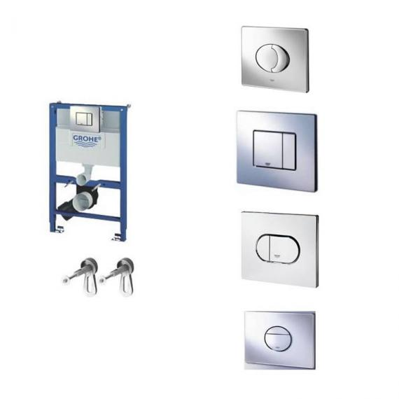 Grohe Rapid SL 0.82m WC Cistern Frame with Flush Plate