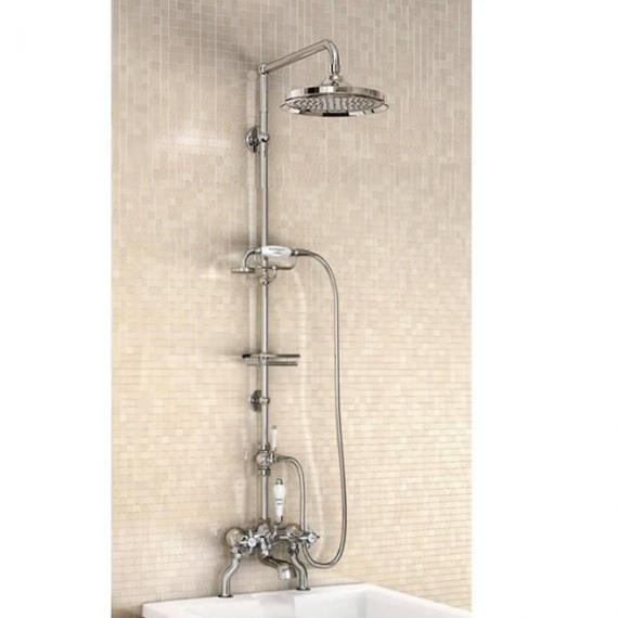Burlington Bath Shower Mixer With Rigid Riser, Shower Arm, 9