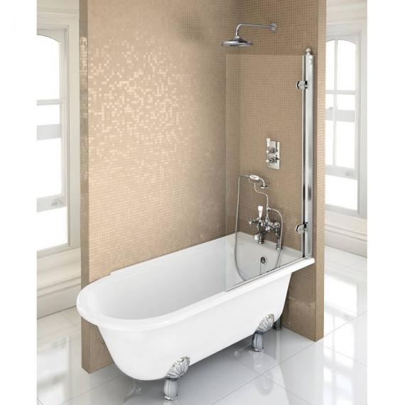 Burlington Hampton 1500mm Showering Bath & Feet - Right Hand