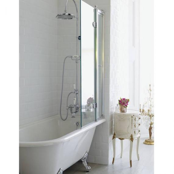 Burlington Hampton 1500mm Showering Bath & Feet - Right Hand - Image 2