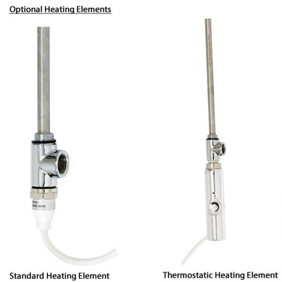 Phoenix Davina Chrome Designer Radiator - heating elements