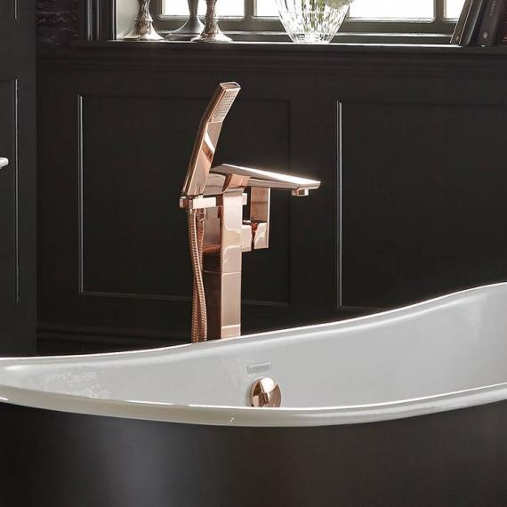 Heritage Hemsby Rose Gold Floorstanding Bath Shower Mixer
