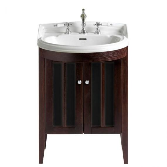 Heritage Hidcote Medium Bowfront Walnut Vanity Unit & Basin