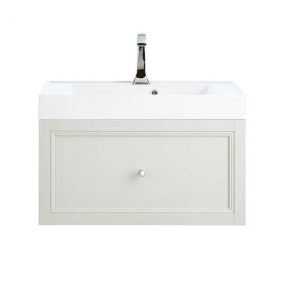 Heritage Caversham Dove Grey Wall Hung Vanity Unit With Hampstead Basin