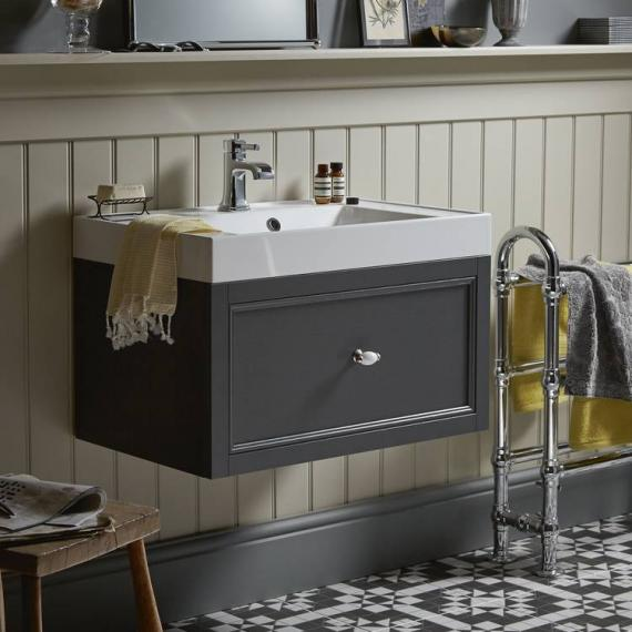 Heritage Caversham Graphite Wall Hung Vanity Unit With Hampstead Basin