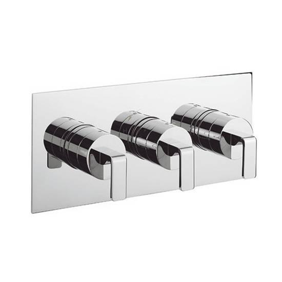 Crosswater Kelly Hoppen Zero 1 Landscape Thermostatic Shower Valve With 3 Way Diverter