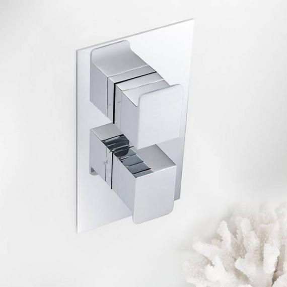 Crosswater Kelly Hoppen Zero 3 Thermostatic Shower Valve With 2 Way Diverter