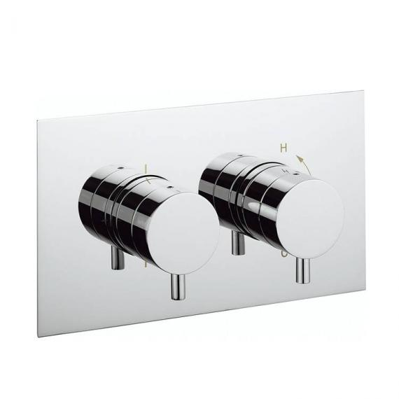 Crosswater Kai Lever Thermostatic Landscape Shower Valve With 2 Way Diverter