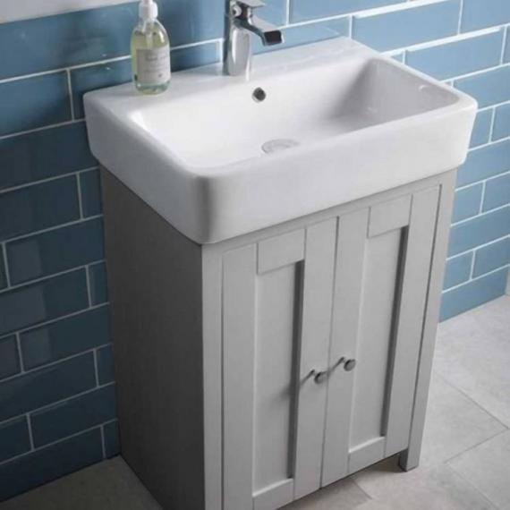 Tavistock Lansdown Pebble Grey 570mm Freestanding Unit & Basin