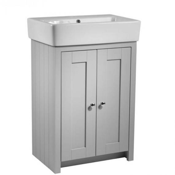 Tavistock Lansdown Pebble Grey 570mm Freestanding Unit & Basin - Image 3