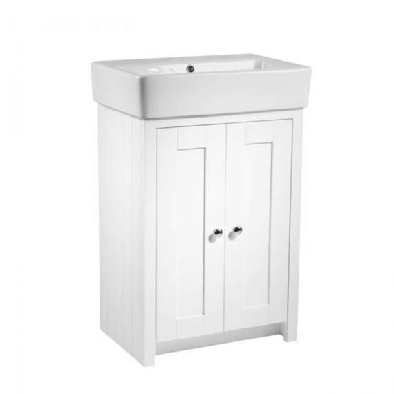 Tavistock Lansdown Linen White 570mm Freestanding Unit & Basin - Image 2