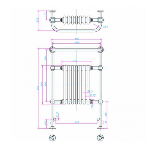 Arcade Lansdowne Nickel Radiator Specification